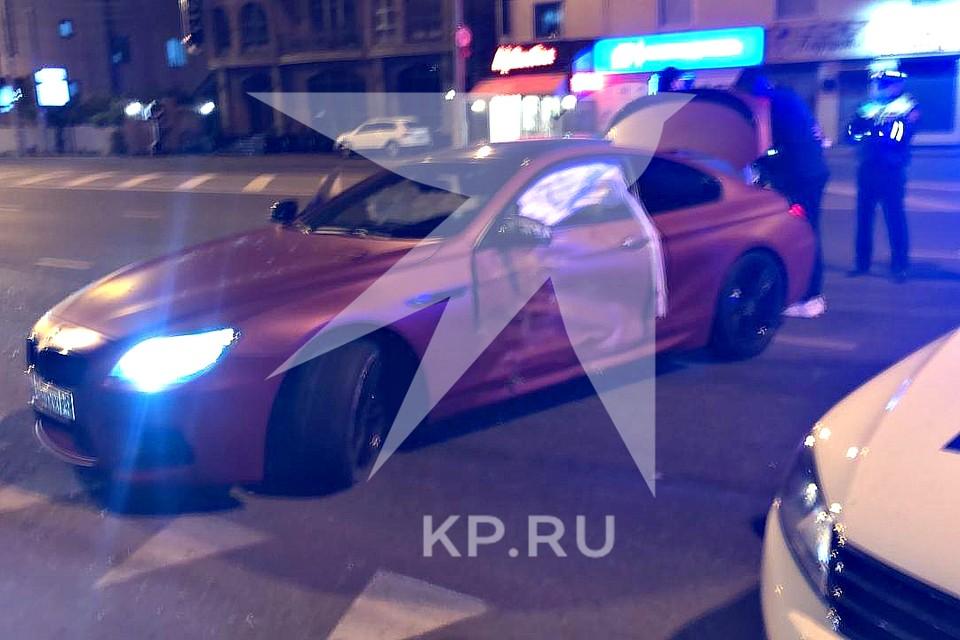 BMW попала в ДТП на улице Мачуги