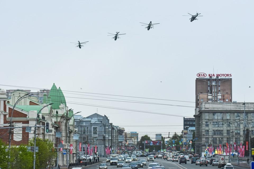 Ударные вертолеты Ми-24.