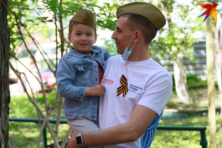 День Победы в Барнауле 9 мая 2020 года.