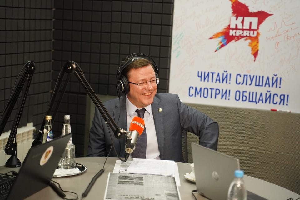 """В студии радио """"Комсомольская правда - Самара"""" губернатор Самарской области Дмитрий Азаров"""