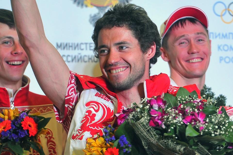 Илья Черноусов в феврале 2014 года, встреча олимпийцев-призеров игр в Сочи в Москве.