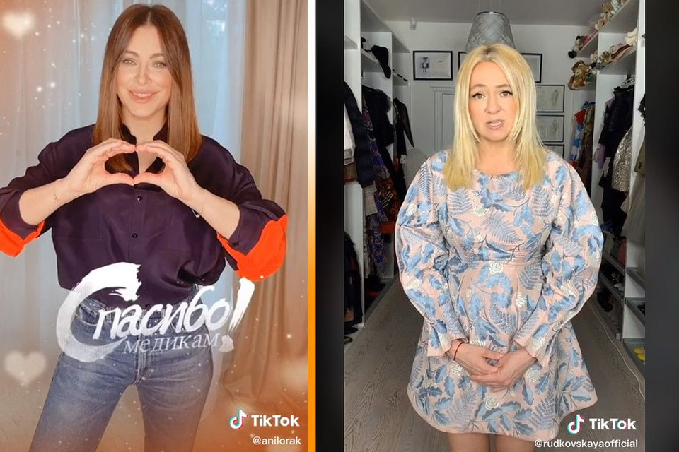 К кампании #спасибомедикам в TikTok присоединились российские звезды, среди которых - Ани Лорак и Яна Рудковская.
