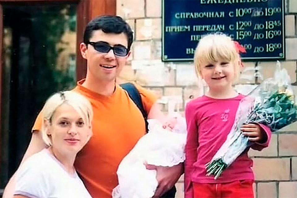 Сергей Бодров с семьей: женой Светланой, сыном Александром и дочерью Ольгой