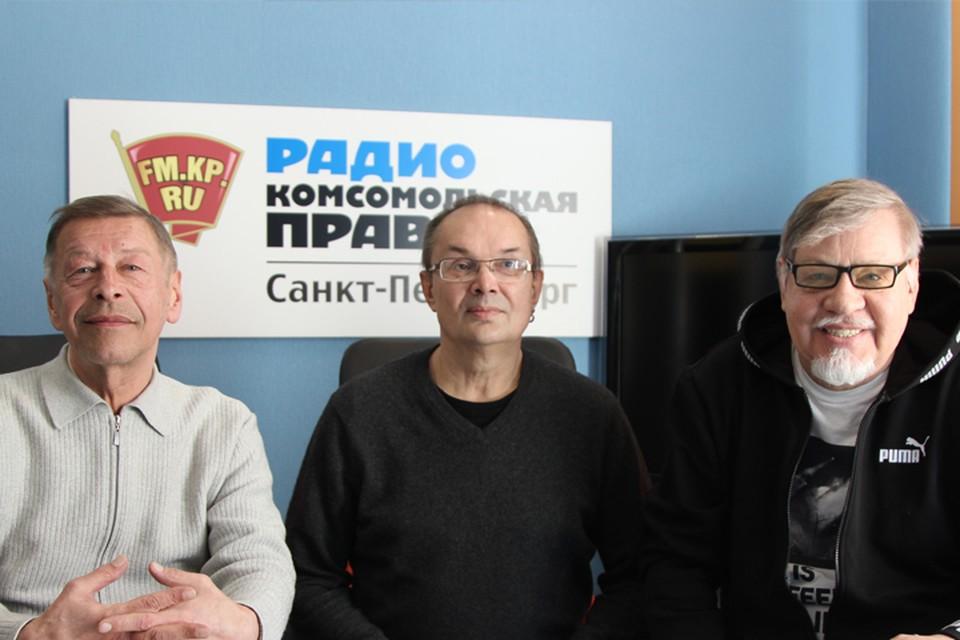 Александр Донских, Алексей Рыбин и Александр Семенов в студии радио «Комсомольская Правда в Петербурге», 92.0 FM