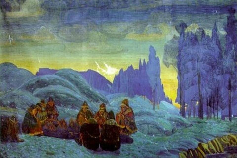 """""""Поморяне. Вечер"""" была куплена Мурманским морским пароходством в 2000 году. Фото www.museum.ru"""