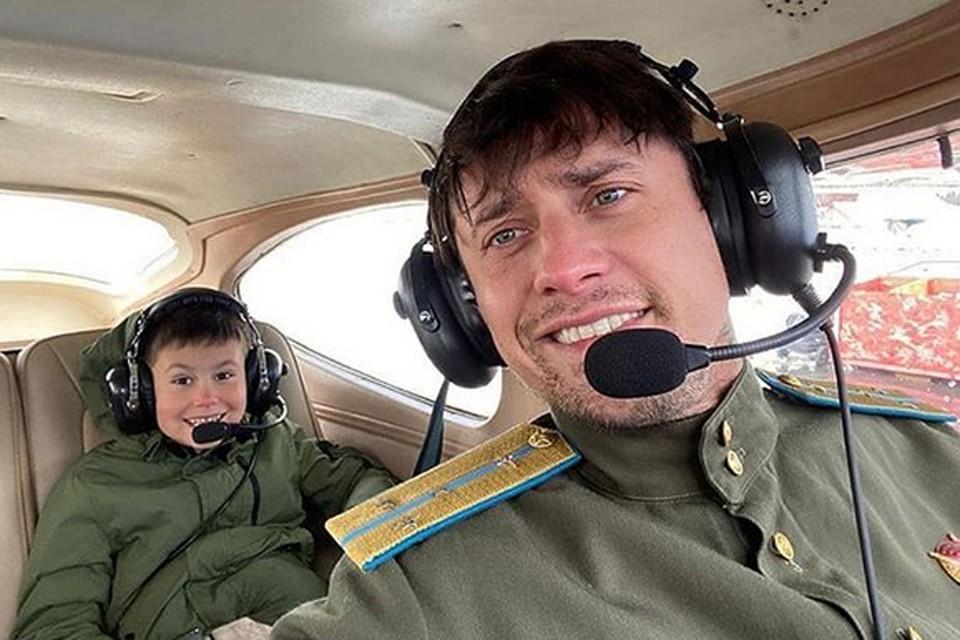 Павел Прилучный с сыном Тимофеем на съемках нового фильма Тимура Бекмамбетова «ФАУ-2. Побег из ада»