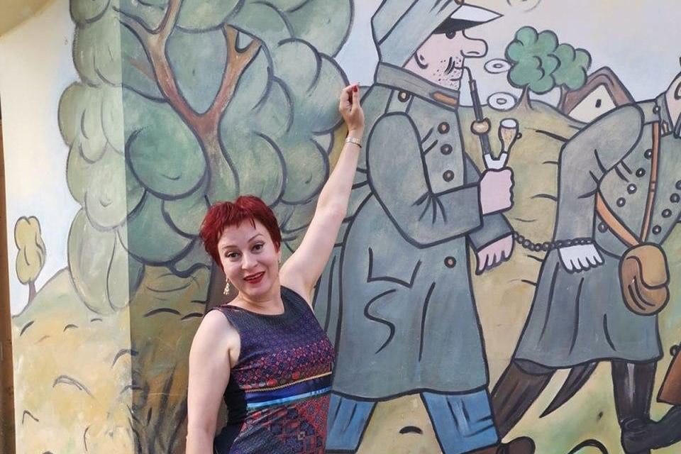 """Журналист """"Комсомольской правды"""" Дарья Асламова в Праге."""