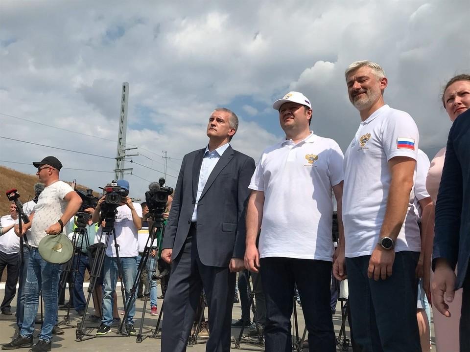 На запуске присутствовал глава Крыма Сергей Аксенов