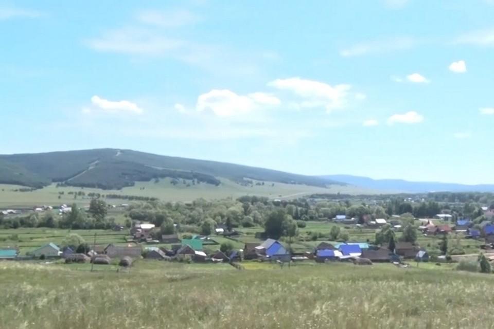 На фото - село Верхнеиткулово / скриншот видео с youtube, канал Ишимбай ТV Ишимбайское телевидение