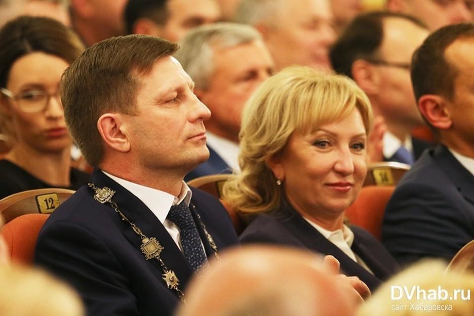 Редчайший случай, когда Сергей Фургал вышел в свет с супругой. Фото: Евгений Переверзев, портал DVhab