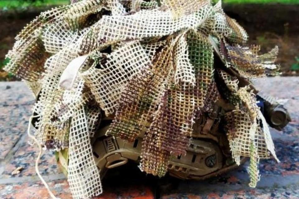 В НМ ДНР сообщили, что найденное на месте имущество и вооружение представляет собой высококачественные дорогостоящие образцы производства стран НАТО. (На фото - облегчённый шлем «MICH/ACH-ССО») Фото: НМ ДНР