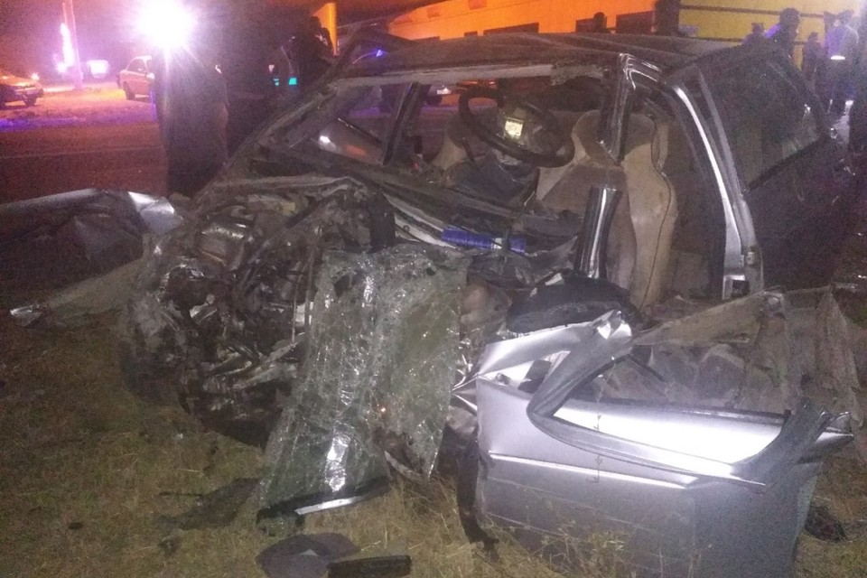 Четыре машины столкнулись ночью на трассе