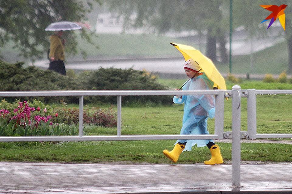 На воскресенье синоптики прогнозируют кратковременные дожди