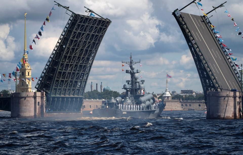 26 июля в России отметили морским парадом День ВМФ