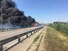 На Кубани взорвалась фура на дороге