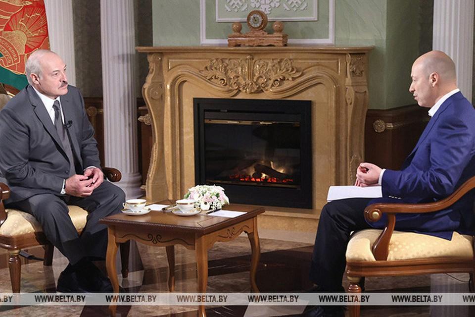 Лукашенко 5 августа дал большое интервью украинскому журналисту Дмитрию Гордону. Фото: БелТА