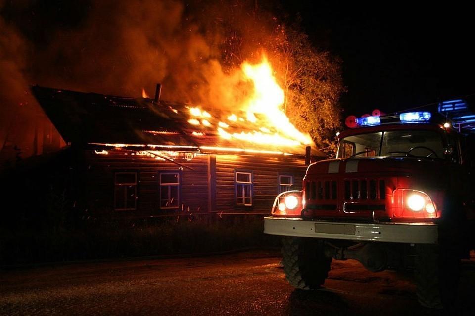 При пожаре погибли четыре человека