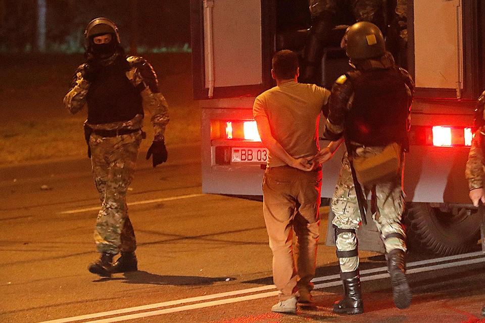 Задержание оппозиционеров в центре Минска, 9 августа 2020 г.