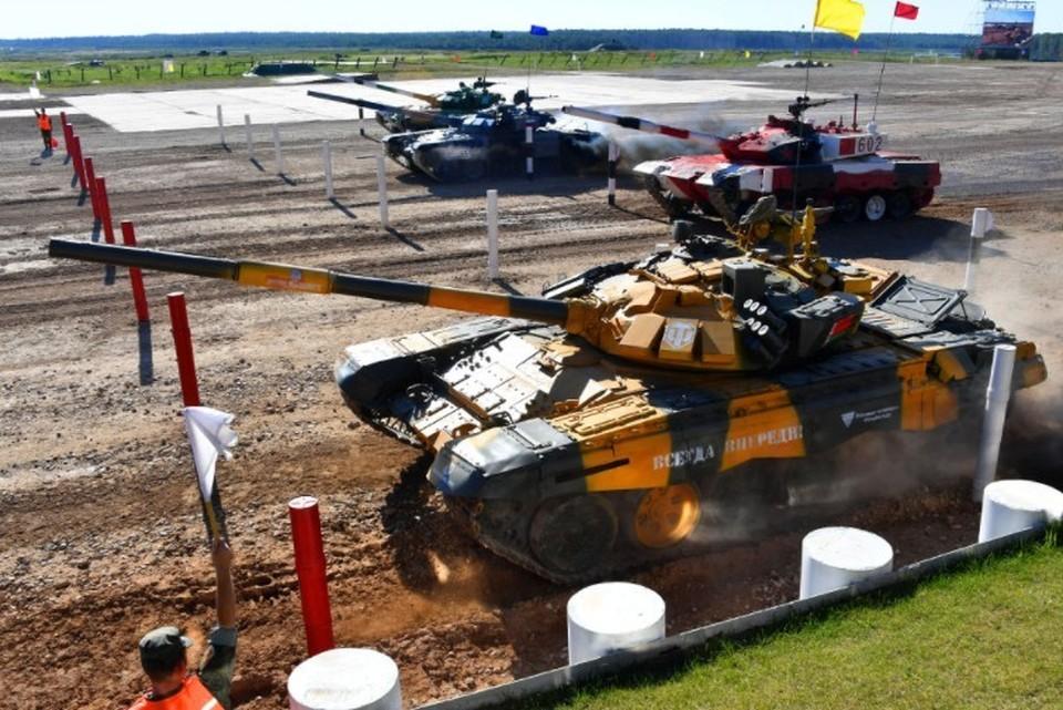 Танковый биатлон на армейских играх