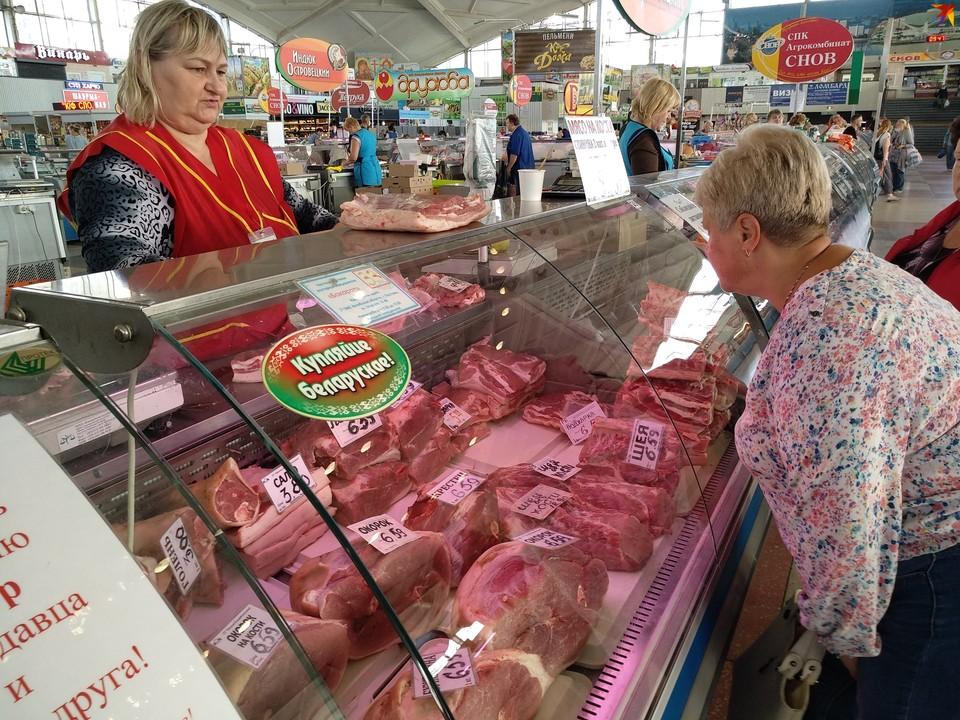 Утром на центральном рынке Минска еще не так много покупателей