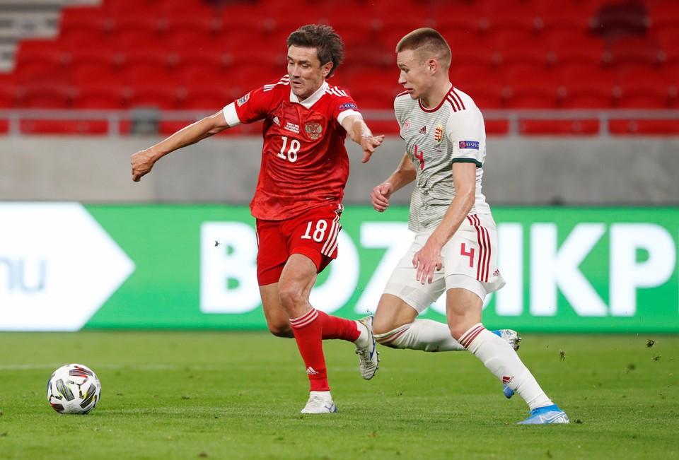 Россия сыграла в гостях с Венгрией.