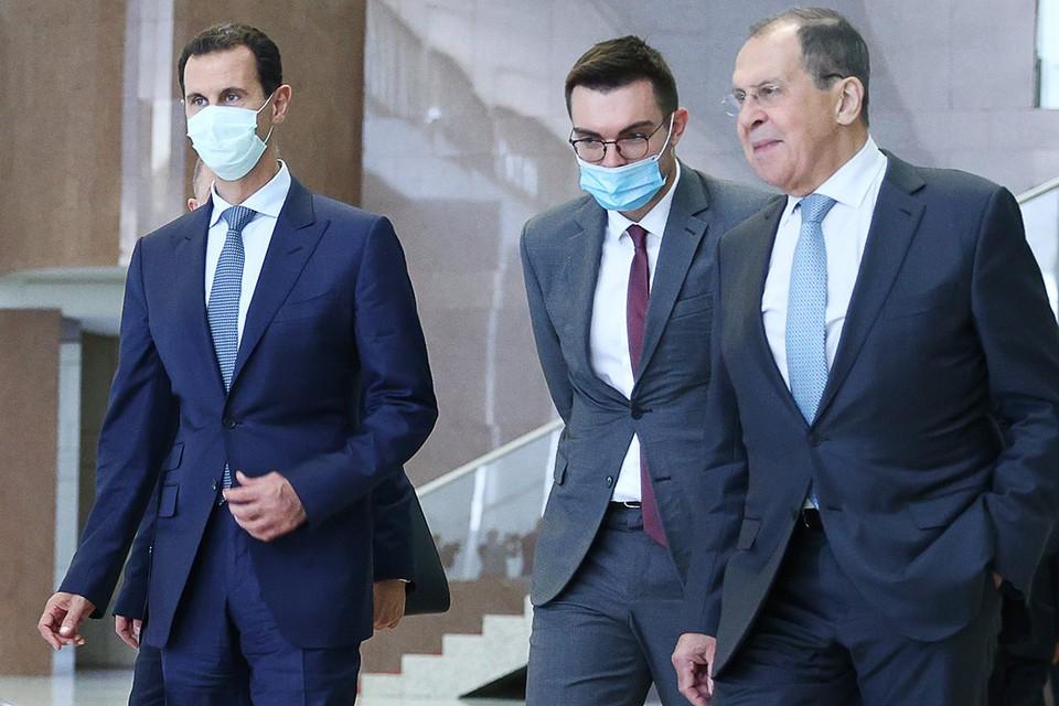 Лавров встретился с Асадом. А США объявили сирийскую нефть своей