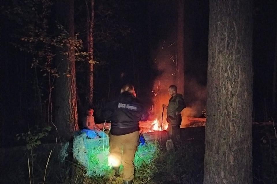"""Поиски по ночному лесу заняли у волонтеров порядка шести часов. Фото: предоставлено ДПСО """"Прорыв"""""""