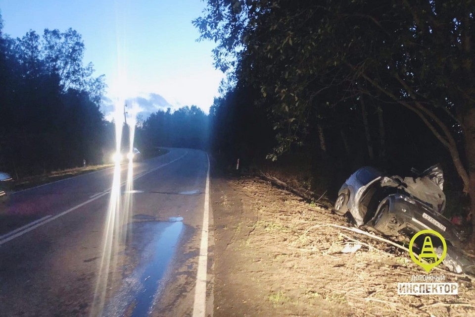 """Смертельная авария произошла на трассе """"Петергоф-Кейкино"""". Фото: vk.com/dorinspb"""