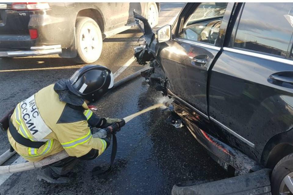 Авария произошла 14 сентября. Фото: ГУ МЧС России по МО