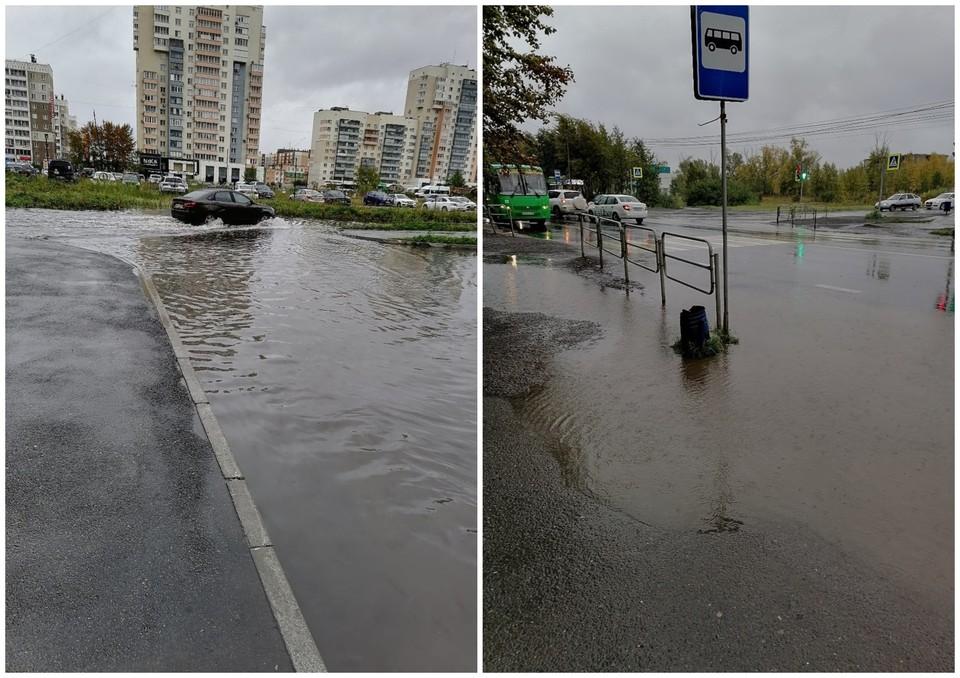 Вот так выглядят дороги на Тополиной аллее. Фото: Гражданский патруль | Челябинск/vk.com