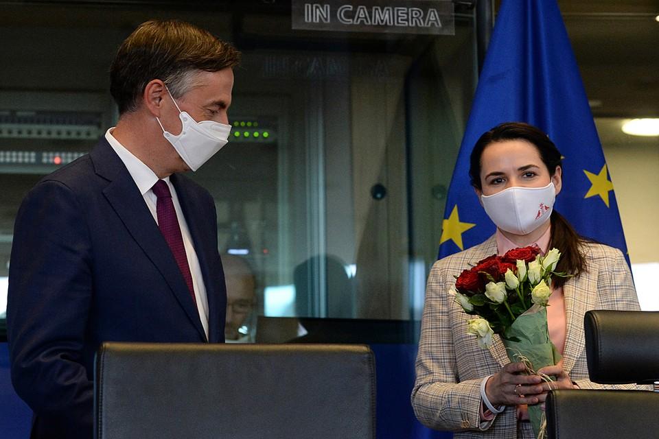 Светлана Тихановская завершила визит в Брюссель, где выступила перед главами МИД Евросоюза