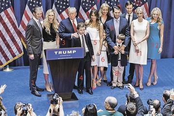 Пять детей Дональда Трампа голосуют только за папочку