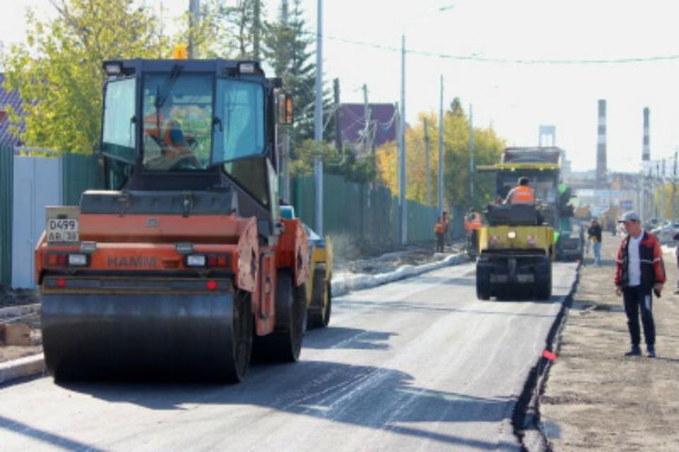 Улицу Култукскую начали асфальтировать в Иркутске. Фото: администрация Иркутска.