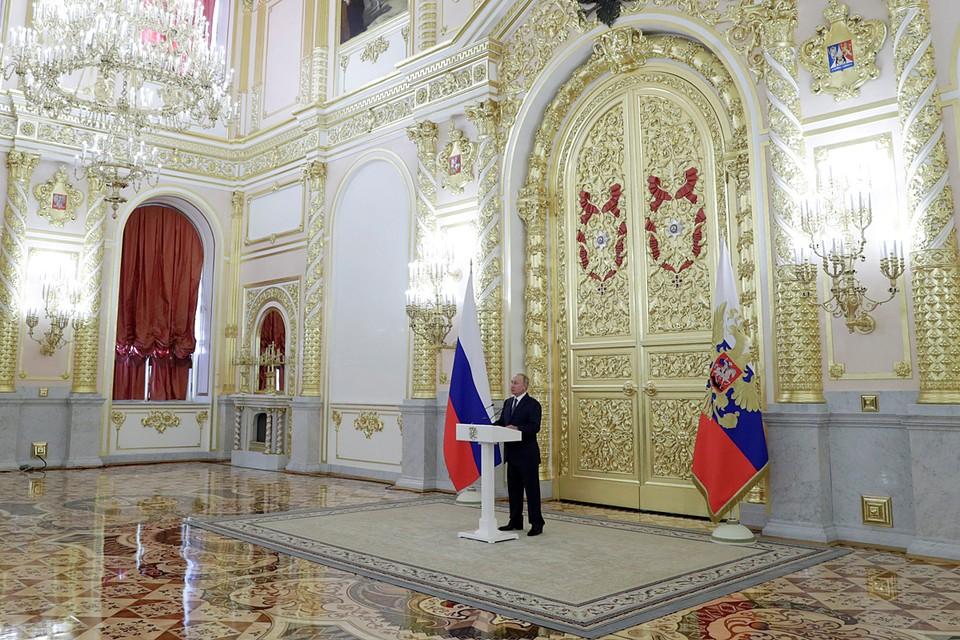 Владимир Путин выступил в Кремле перед членами Совета