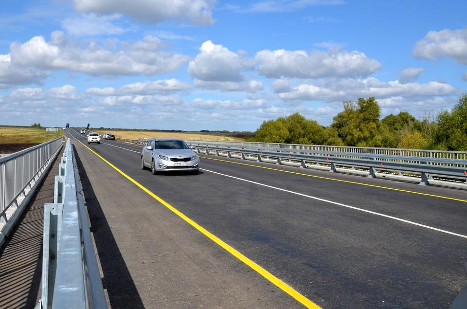 В Рязанской области сдали капитально отремонтированный мост через реку Лапоток.