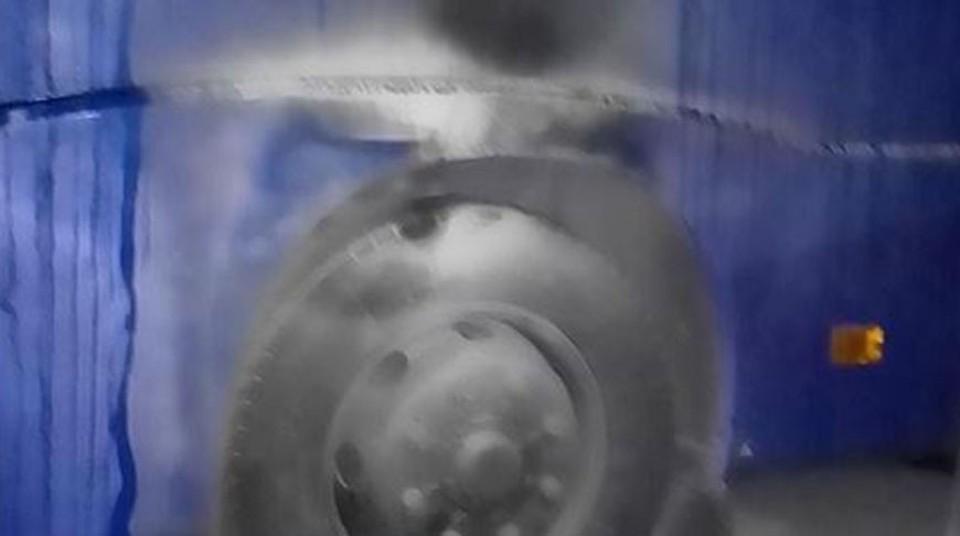 В ночь на 13 октября в Советское РУВД Минска бросали коктейли Молотова. Фото: МВД Беларуси.