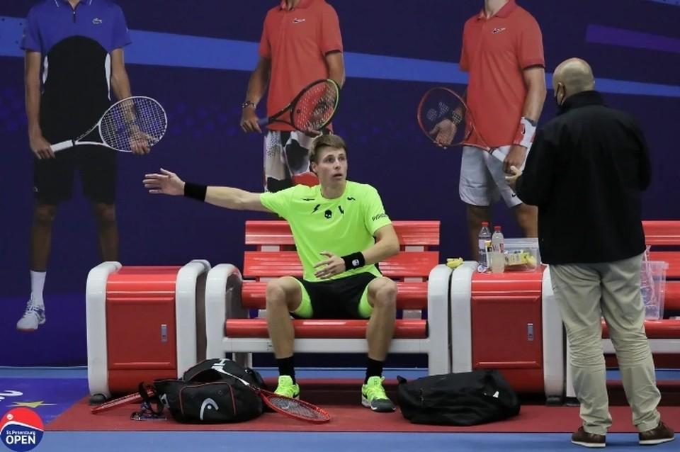 Белорус Ивашко получил штраф за поход в туалет во время матча на St.Petersburg Open 2020. Фото: предоставлено организаторами турнира