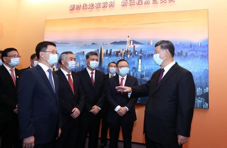 Глава КНР Си Цзиньпин в Шэньчжэне