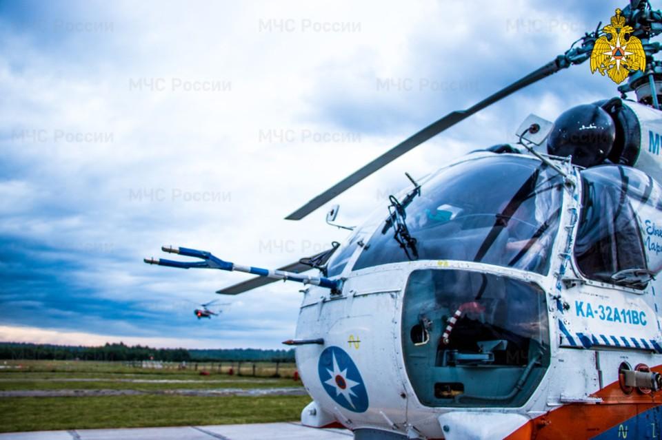 Вертолет санавиации вылетал в Удомлю Фото: ГУ МЧС России по Тверской области