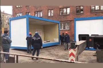 Сергей Цивилев показал медицинский модуль для ожидания приема в Новокузнецке