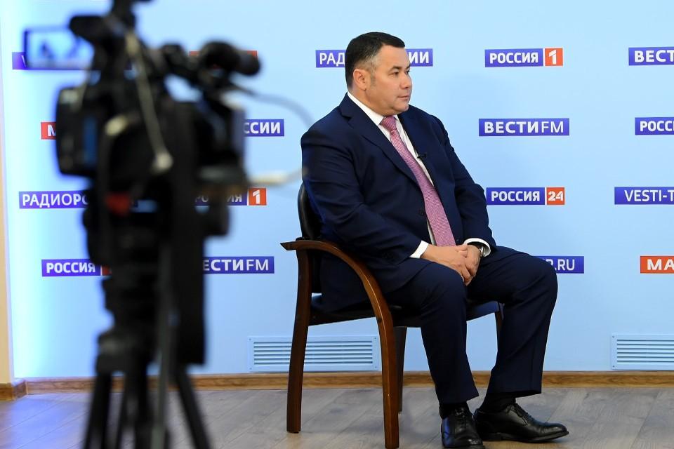 Игорь Руденя заверил, что Северный обход Твери построят как можно более удаленно от населенных пунктов. Фото: ПТО