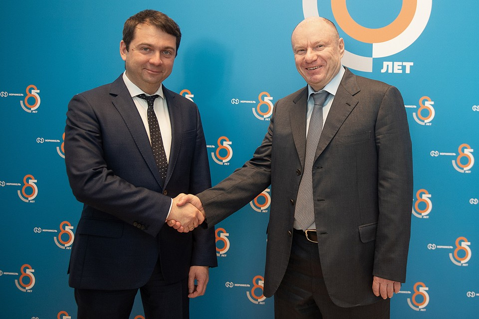 Глава региона Андрей Чибис и президент «Норникеля» Владимир Потанин