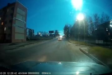 В небе над севером Сахалина взорвался метеорит