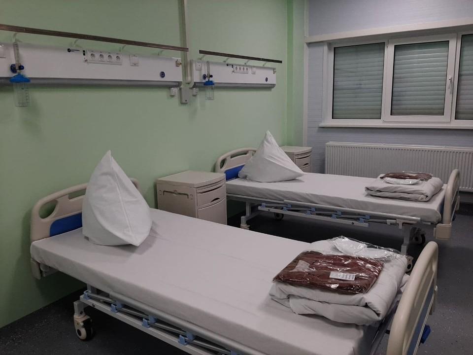 Каждая палата оборудована кислородной подводкой для пациентов