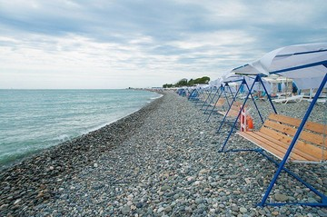 На курортах Краснодарского края начали создавать «зимние пляжи»