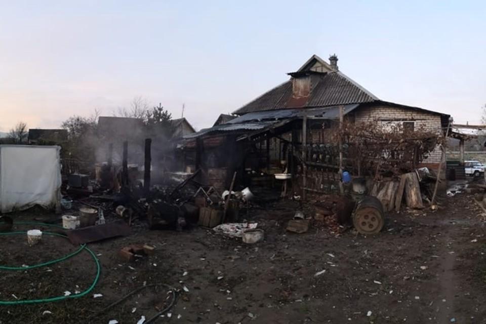 После пожара в Абинском районе. Фото: краевого СУ СК РФ