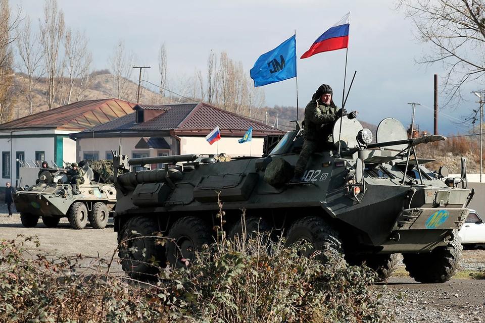 На территории Нагорного Карабаха еще вчера шли бои, а сегодня наши миротворцы встали на согласованных линиях разграничения.