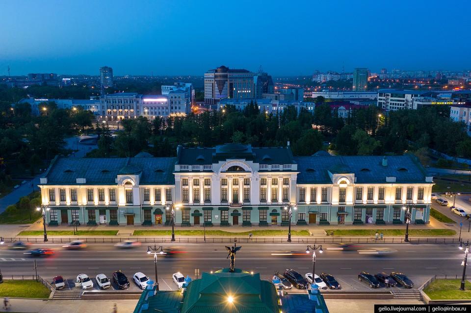 С высоты птичьего полета Омск совсем неплох. Фото: gelio.livejournal.com