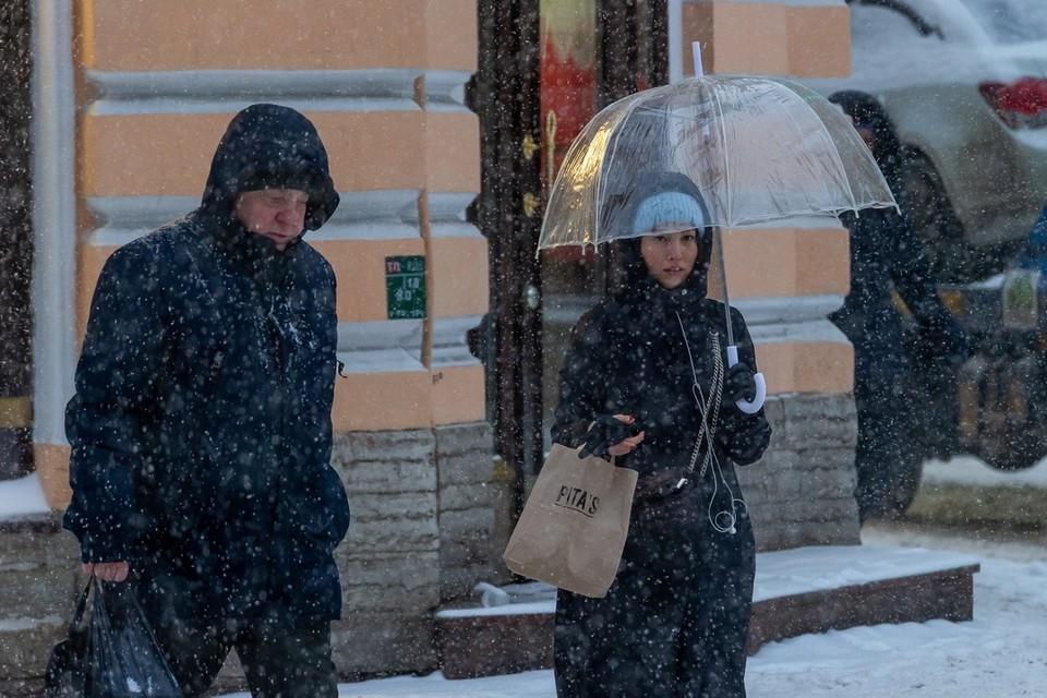 Во второй половине дня в субботу и в воскресенье возможно пойдет небольшой снег.