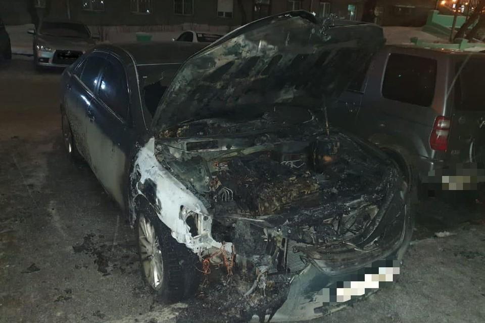 Поджигатель уничтожил машину бывшей сожительницы. ФОТО: МВД.